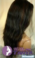 Indian Remy Human Hair 12-24 inch Loose Natural Wave Lace Front Wig Full wig