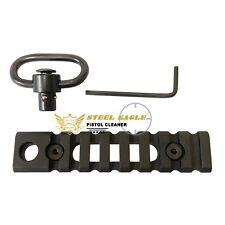 KeyMod 8 Slot Picatinny Weaver Rail Section with QD Push Button Sling Stud Black