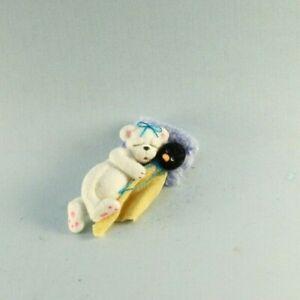 OOAK~Polar Bear~Penguin Security blanket~Doll~Baby Toy~Dollhouse~Cheryl Brown