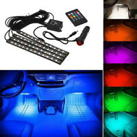 RGB LED Strip Lights  Car Interior Foot Atmosphere Light Decor Remote Control