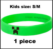 Minecraft S/M Creeper green Bracelet KIDS wristband party game toy gift favor