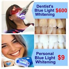 ACCELERATED TEETH WHITENING!  Personal Blue Light Laser Teeth Whitening Kit.