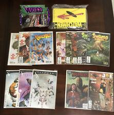 Lot Of 13 DC Vertigo Comic Books & Cards Neil Gaiman Sandman Swamp Thing