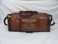 """23"""" Real Brown Leather Duffle Bag Sports Gym Bag Hold-All Bag Luggage Bag"""
