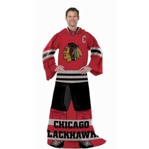 Chicago Blackhawks Player Uniform Comfy Fleece Blanket Throw