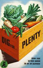 Vintage creuser pour beaucoup de guerre Affiche D'Impression A2