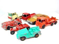 Vintage Matchbox 7 Toy Diecast Metal Car Lot Trucks Roadster Jeep Midgetoy Husky
