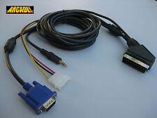 VGA TO SCART RGB 1.6 METERS + SOUND JACK (EUROCONECTOR) for JAMMA ARCADE system