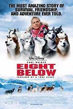 8 EIGHT BELOW MOVIE POSTER 2 Sided ORIGINAL 27x40 PAUL WALKER JASON BIGGS
