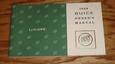 Original 1988 Buick LeSabre Owners Operators Manual 88