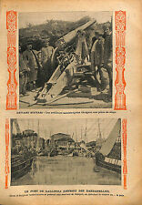 Montenegro Balkan War Scutari Artillery Port Gallipoli Détroit 1913 ILLUSTRATION