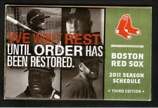 2011 Boston Red Sox Schedule--Time Warner Cable--Crawford/Beckett/Youkilis/Ortiz