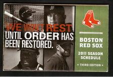 2011 Boston Red Sox Schedule--Budweiser--Crawford/Beckett/Youkilis/Ortiz