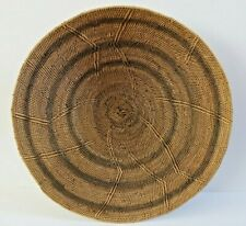 "VINTAGE WOVEN 17"" AFRICAN TRIBAL BASKET EXCELLENT"