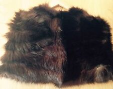 Ladies Vintage 50's 60's 70's REAL FUR Cape Party Deco Jacket One Size