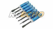 RC Model Blue Screw Driver R/C Hobby Adjustment Tools Kit (7pcs) AC344