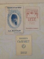lot 3 anciens programmes Tournées Ch. Baret Dédé/le refuge/laure fréville/la raf