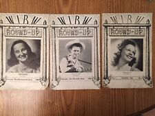 Lot of 3: 1945 & 1946 Wibw Round-Up Magazines Virginia Lee Sonny Slater Maureen