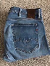 Authentic Replay Hyperflex Jeans Jondrill Blue Waist 31 Length 32