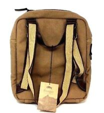 Jack Georges Voyager Canvas Convertible Backpack Messenger Bag, Khaki