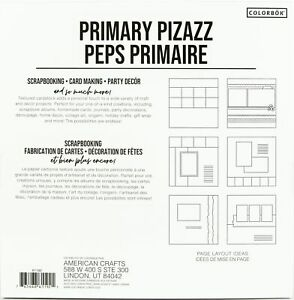 "Colorbok Textured Cardstock Pad 12""X12"" 30/Pkg-Primary Pizazz"