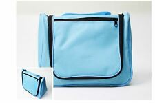 Travel Toiletry Makeup Travel Hanging Hook Wash Shower Bag Kit Case Sky Blue