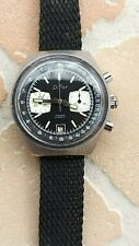 Rare DIFOR chrono panda valjoux 7734 watch vintage 40mm working NR