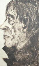 Vintage man portrait print