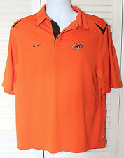 Nike Team Apparel Fit-Dry Oklahoma State OSU Polo Size M, NWOT, Orange, Black