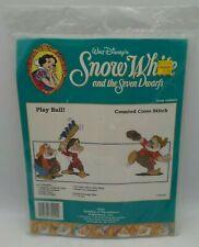 Walt Disney Cross Stitch Kit Snow White 7 Dwarves PLAY BALL NEW Sealed Unopened