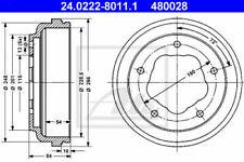 2x ATE Bremstrommel Hinterachse(HA) 24.0222-8011.1 für FORD TRANSIT Kasten (T_ _