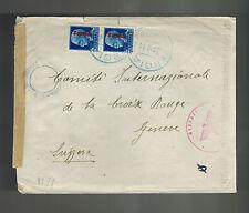 1944 Vergiate Italy Socialist Republic censored cover to Switzerland Red Cross