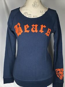 Women's Chicago Bears NFL Junk Food Champion Fleece Sweatshirt SMALL NEW