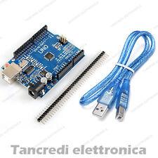 SCHEDA UNO R3 ATmega328 CH340 ( Arduino - compatibile ) BARRA PIN cavetto USB