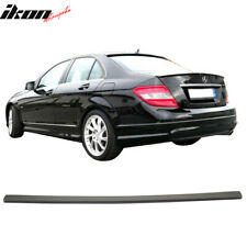 Black ABS RDX Racedesign RDHL487 Roof Spoiler Lip Mercedes C-Class W204 Sedan