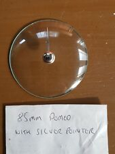 Barometer replacement glass - 85mm Domed with silver pointer