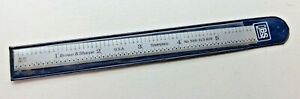 """Brown & Sharpe 6"""" Tempered Flex Steel Rule Scale No. 599-323-605 Made In USA"""