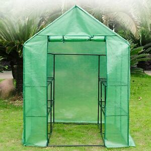 Brand New 3-Tier Portable Outdoor Garden Patio Walk-In Greenhouse with 8 Shelves