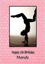 Personalised Gymnastics Birthday Card