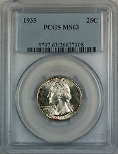1935 Silver Washington Quarter Coin, PCGS MS-63, Toned, Better Coin