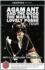 ADAM ANT 2013 Gig  POSTER Portland Oregon Concert