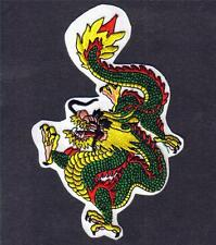 "MEDIEVAL Chinese Oriental Feng Shui DRAGON 4"" x 6"" Iron On Sew On NOVELTY PATCH"