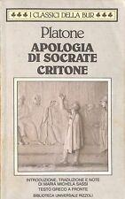Apologia di Socrate / Critone (testo greco a fronte) - Platone - Rizzoli 3445