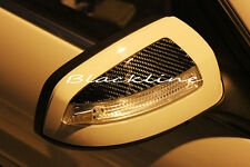 FOR 08~09 Mercedes Benz W204 C Class Carbon Fiber Mirror Trim Decals Cover C300