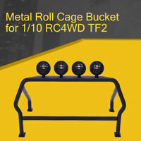 Metal Roll Cage Bucket with 6 LED Lights For 1/10 Axial SCX10 RC4WD D90 TF2
