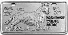 Cardigan Welsh Corgi Pewter Vanity Plate