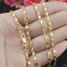 18K Gold Filled Unique Smooth Figaro Snail Link Necklace Chain 18''-30'' Jewelry