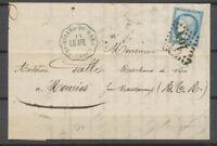 1876 N°60 Obl GC + conv. Station Bleue St Gilles-du-Gard LU.ARL GARD(29) X4678