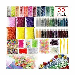 Slime Supplies Kit, 55 Pack Slime Beads Charms, Include Fishbowl beads, Foam ...