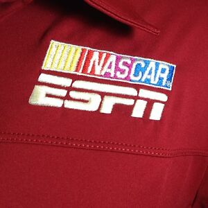 NASCAR ESPN Logo Polo Shirt Embroidered Commentator Style Racing Womens Large